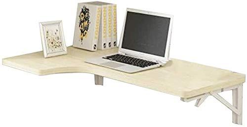 Soporte Portátil Escritorio Montado en la Pared Drop-Hoja Plegable Multifunción Computadora Escritorio Esquina Esquina Escritorio Super Carga Rodamiento (Color : Wood, Size : 80x60x40cm)