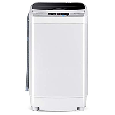 CASART Fully Automatic Washing Machine, 4.5kg Capacity Washer Spin Dryer with LED Display, Adjustable Water Level, 10 Wash Programs and Air Drying