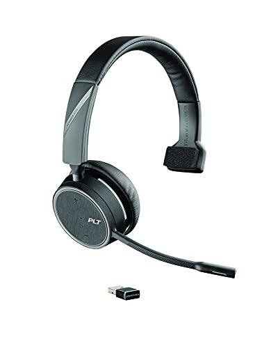 PLANTRONICS-보이저 4210UC USB-A(폴리)-블루투스 단일 귀(MONAURAL)헤드셋-PC MAC 및 책상 전화에 연결-소음 제거-팀 줌 및 더 많은 작동