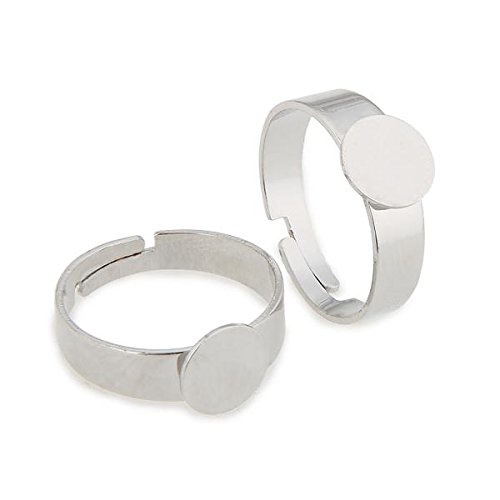 10X Verstellbar Ringe Silber RINGROHLING Fädelplatte