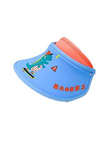 AQ1 mütze Baby faltbar Sonnenschutz, bedeckendes Gesicht, Anti-Ultraviolett, große Traufe, leerer Zylinder-6 Monate-3 Jahre Alter Skateboard-Drache