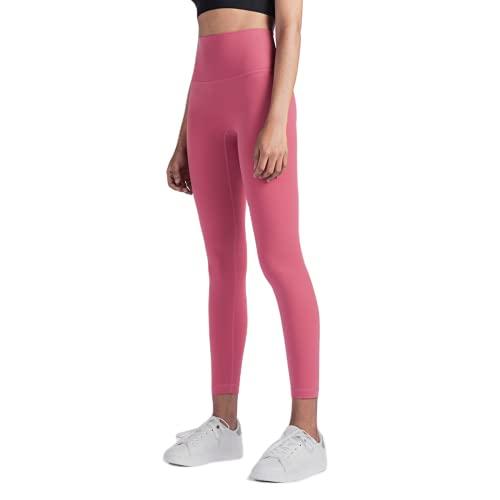 QTJY Leggings de Yoga de Longitud Completa para Mujer, Pantalones para Correr, Ajuste cómodo, Estiramiento, Pantalones de Yoga de Secado rápido, Pantalones de Fitness LM