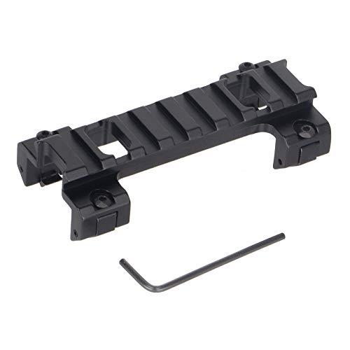 ToopMount Taktische Gewehrschiene Low Profile Klauenhalterung Aluminium 20mm Weaver/Picatinny Schienenhalterung Basisadapter für G3 MP5