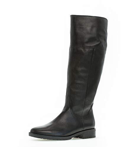 Gabor Damen Stiefel,Comfort-Mehrweite,Reißverschluss,Schaftweite XL Vario,Optifit- Wechselfußbett, Women's Woman,schwarz (Micro),39 EU / 6 UK