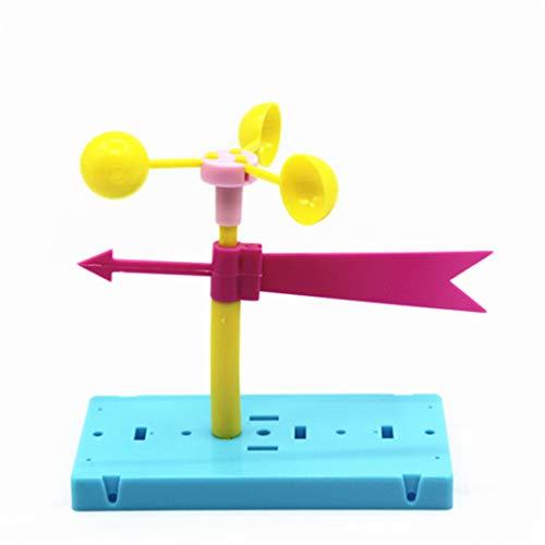 JOOFFF Windfahne Windfahne Wind Richtung Physik Experiment DIY Wissenschaft Lernspielzeug Kit Kinder Lernspielzeug