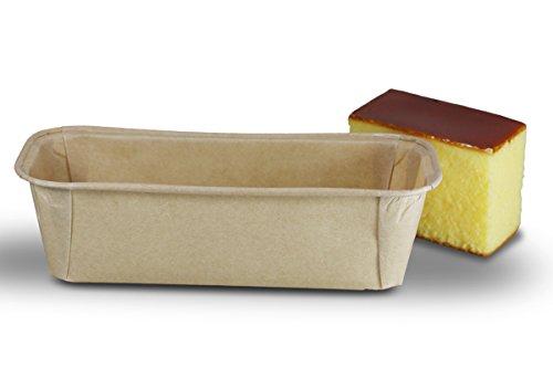 zi pac Bio Food Pack Einwegbackformen, Kastenform, kompostierbar, öko, umweltfreundlich, eckig, 190x87x50mm, 523ml, 25 Stück