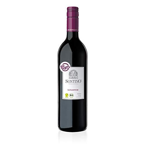 Sontino BioVegan Sangiovese Halbtrocken, 1 x 0.75 L - Rotwein aus Italien