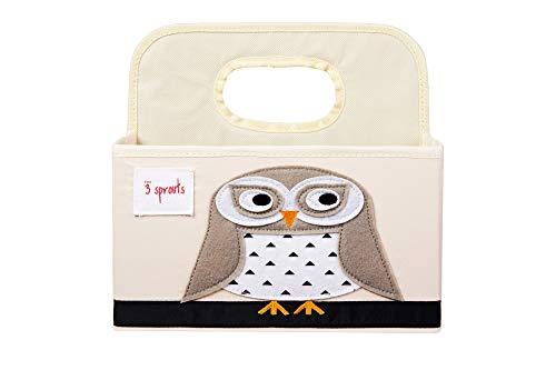 3 Sprouts Baby Windel Caddy - Organizer Korb für Kinderzimmer, Eule