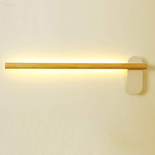 VOMI Lámpara de Espejo LED 6W Lámpara de Espejo 40cm para Baño, Espejo de Madera Maciza Faros Prueba de Agua, para Maquillaje Gabinete para Cuarto Armario con Espejo Tocadores