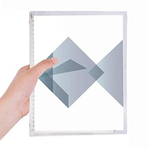 Cuaderno de hojas sueltas rellenable con forma geométrica de pez de origami