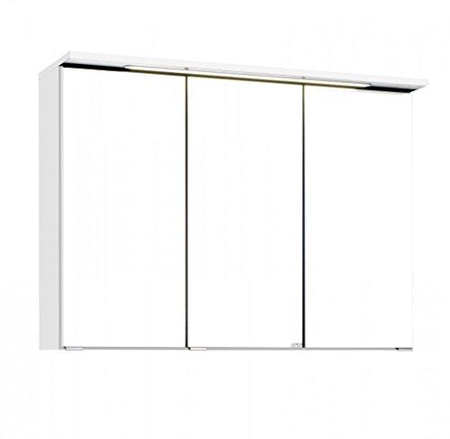 Held Möbel Bolgona Spiegelschrank, Holzwerkstoff, Weiß, 20 x 90 x 68 cm