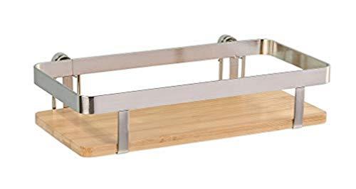 WENKO Universalregal Premium - Küchen-Ablage, Küchenregal, vernickeltes Metall, 25 x 5.5 x 12 cm, Silber matt