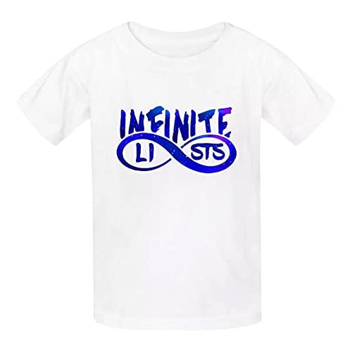 956 Infinite-Lists Merch Ca-ylus in Finite Graphic T-Shirt Bambini Adolescenti Moda Girocollo Manica Corta Tee per Ragazzi Ragazze Bianco 2 8-11 anni