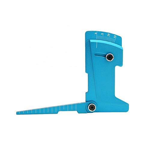 Duradero Herramienta Estación de clasificación for la regla 1/8 1/10 RC modelo de coche de aleación de aluminio ajustable Medidor de herramienta Desvío regla Herramienta Perforar ( Color : Blue )