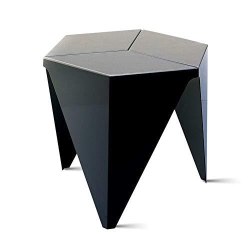 GWM Couchtisch, Laptop Spieltisch Moderner Kaffee Tee Schreibtisch Büromöbel, Einfache Mode Couchtisch Einfacher Couchtisch Dreieckiger Couchtisch Tisch EIN Paar Ecken (Color : Black)