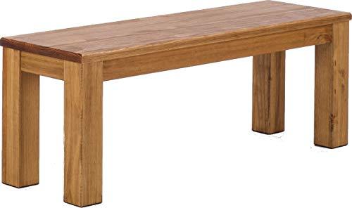 B.R.A.S.I.L.-Möbel Brasilmöbel Sitzbank 120 cm Rio Classico Brasil Pinie Massivholz Esszimmerbank Küchenbank Holzbank - Größe und Farbe wählbar