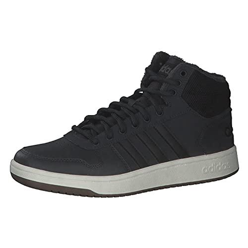 adidas Herren Hoops 2.0 Mid Sneaker, Carbon Negbás Tinbla, 44 EU