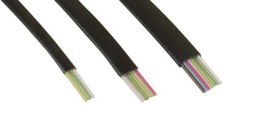 InLine 69981 modulaire kabel 4-aderig platte band 100m ring zwart