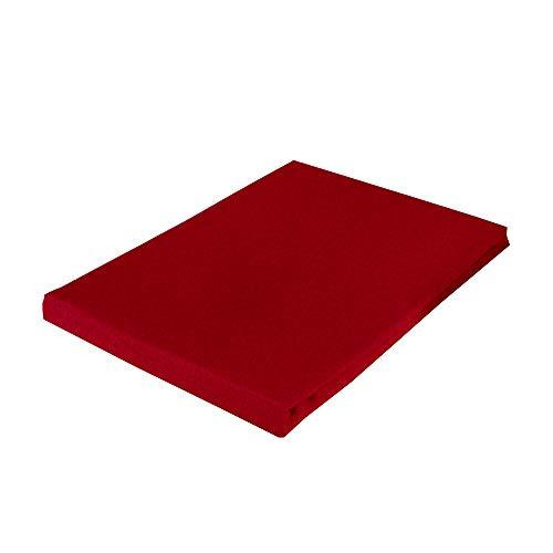 Casa Colori Bettlaken Betttücher Cretonne 100% Baumwolle ohne Gummizug 150x250 cm Uni Farben in Rot