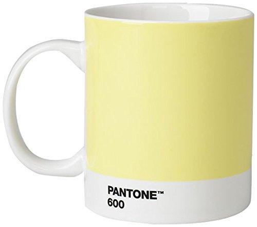 Pantone Porcelain Mugs 375 ml, Porcelain, Light Yellow 600, 8.4 x 8.4 x 12.1 cm, 101030600