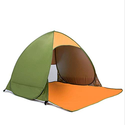 Nuokix Camping Tent, Family Tent Outdoor Awning Sun Tent Portable Beach Sun Tent for Camping Tent for 2-3 People Outdoor Tent 145 * 165 * 110cm green (Color : Green, Size : 145 * 165 * 110cm)
