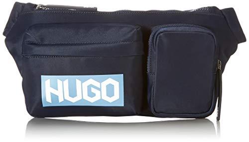 HUGO Record JL_Waist Bag, Cinturón para Hombre, Navy410, Einheitsgröße
