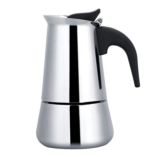 Stovetop Coffee Makers, Portable Stainless Steel Coffee Pot Classic Moka Espresso Maker Mocha Pot for Home, Office.(2 Cup 100ML)