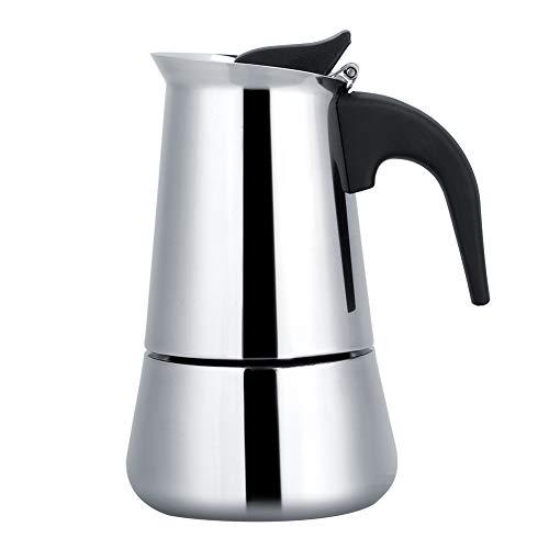 Duokon Cafetera portátil de Acero Inoxidable Moka Espresso Moka, Ideal para Camping y Viajes