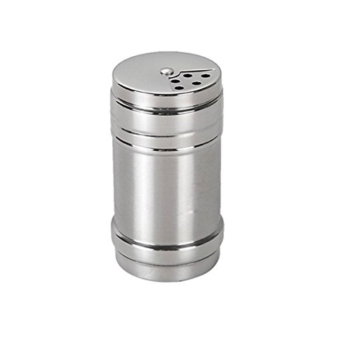 Alohha Stainless Steel Dredge Salt Sugar Spice Pepper Shaker Seasoning Cans with Rotating Cover by Alohha