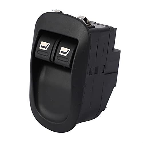 Interruptores De Botón Apto para Peugeot 206 Nuevo Interruptor De Ventana De Energía Eléctrica 96316306XT (Color : Black)