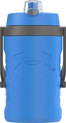 Under Armour Sideline - Botella de agua (64 onzas), color rosa, HDPE, Azul (Jet Blue)