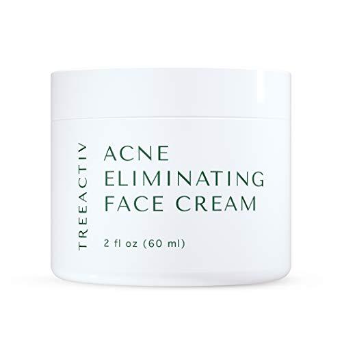 TreeActiv Acne Eliminating Face Cream, Pimple Cream, Cystic Acne Removal, Hormonal Acne Treatment, Tea Tree Oil for Skin, 2 fl oz (60 ml)