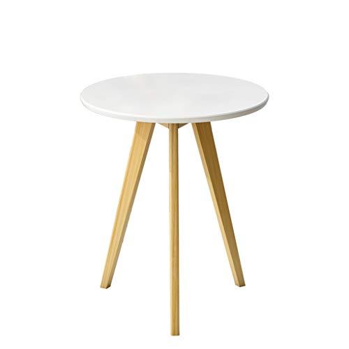 ZHANYI Fashion Bijzettafel Eenvoudige Koffietafel Effen Hout Eettafel Ronde Tafels Moderne Meubilair Af en toe staan Theetafel Voor Bureau Woonkamer
