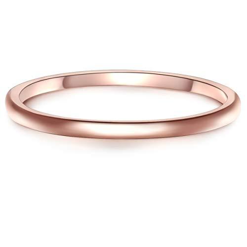 Glanzstücke München Damen-Ring Sterling Silber rosévergoldet - Roségold-Ring Steckring Vorsteckring Stapelring