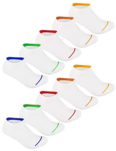 Calcetines para hombre y mujer, 10 o 20 pares en negro, blanco y otros colores de alta calidad blanco 10 tiras blancas. 39-42