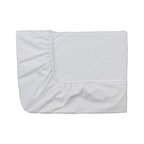 Essix Home Collection - Lenzuolo con Angoli, in Cotone Percalle, Numero Fili: 80, Bianco, 90 x 190 cm