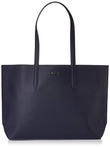 Lacoste Anna, Sac porté épaule Femme,Bleu, 14x30x35 cm (W x H x L)