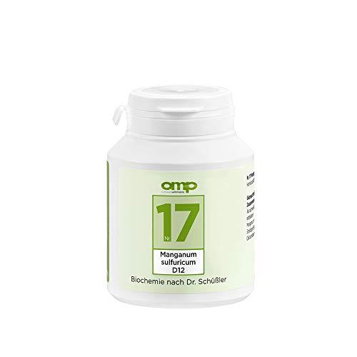 Schüssler Salz Nr. 17 Manganum sulfuricum D12 | 400 Tabletten | Das Salz für Stoffwechsel und Blutbildung | glutenfrei