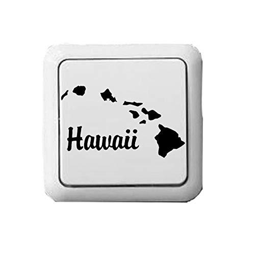 PMSMT Etiqueta engomada del Interruptor de la Personalidad de la Moda Creativa del Vinilo de Hawaii 3WS0087
