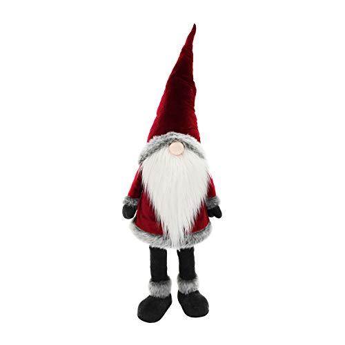 Gnomo natalizio in piedi con led, 135 cm Multicolore