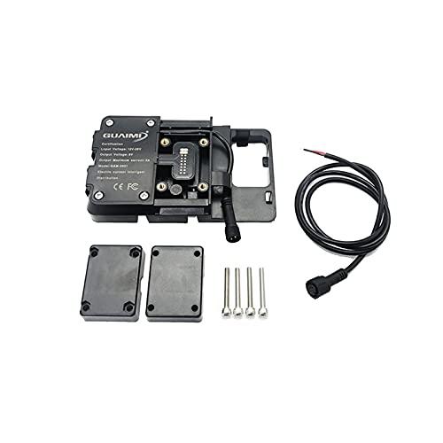 zhiding R1200GS GPS Tenedor de teléfono móvil inalámbrico/Ajuste rápido for BMW R1250GS F700GS F800GS F750GS F850GS CRF1000L CB500X Motocicleta (Color : Wireless Charging)