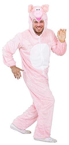 Schwein Tierkostüm für Erwachsene - Gr. XL
