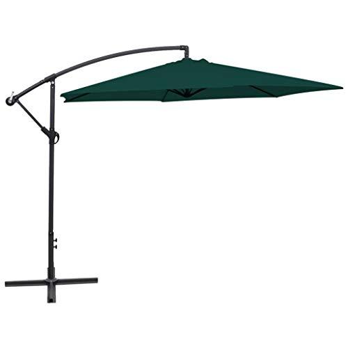 N/O Viel Spaß beim Einkaufen mit Freiarm-Sonnenschirm 3 m Grün