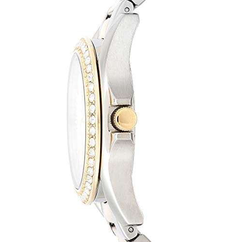 Fossil Women's Riley Quartz Stainless Multifunction Watch, Color: 2T Silver/Gold (Model: ES3204)