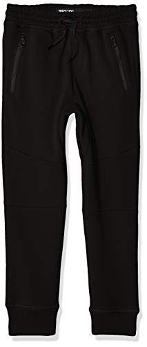 BROOKLYN ATHLETICS Jungen Fleece Jogger Pants Active Zipper Pocket Sweatpants Jogginghose, solide, schwarz, Klein