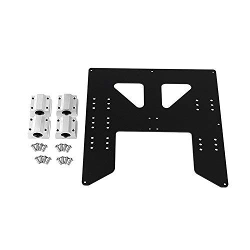 HUANRUOBAIHUO 3D-printen delen Anet A8 A6 Z-as hot bedonderstel plaat met 4 stuks sc8uu sliders kit for Prusa I3 Anet A8 3D-printers 3D Printer Parts (Color : Black)