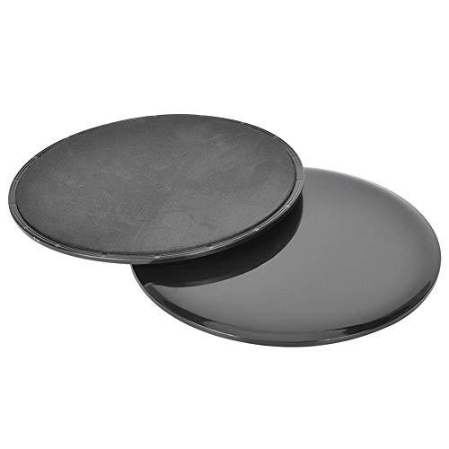 Conlense 2 discos deslizantes de fitness deslizadores de yoga domésticos coordinación deportes entrenamiento deslizante placa negro