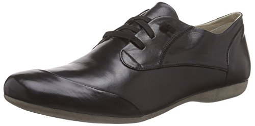 Josef Seibel Damen Bequemschuhe Fiona 01,Weite G (Normal),Women's,Woman,Komfortschuhe,Halbschuhe,schnürschuhe,schnürer,schwarz,39 EU / 6 UK