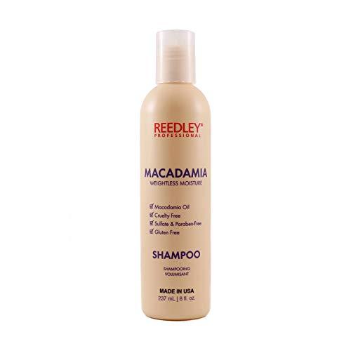 Reedley - Shampoing Macadamia Volumisant - Shampoing Cruelty Free - Sans Gluten - Shampoing Sans Sulfate et Sans Paraben - Brillance, Hydratation et Renforcement du Cheveu