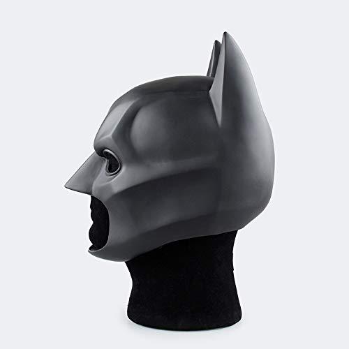 YFJLOVE La sobrecarga Dark Knight Batman for Adultos Completa máscaras de látex Negro máscara Cosplay Cascos Fiesta de Halloween Prop película de Batman Superhéroe (Color :...